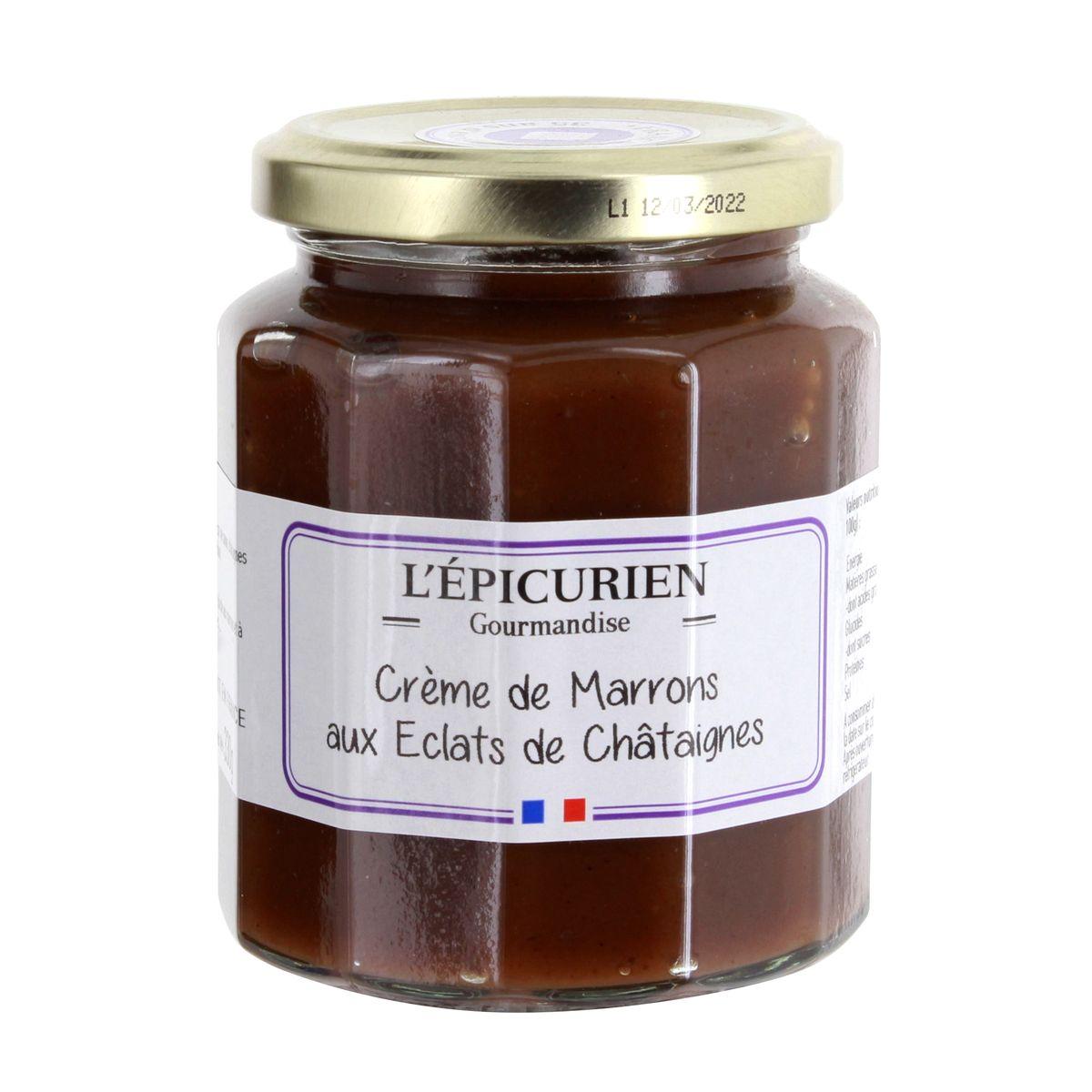 Crème de marrons aux éclats de châtaigne 330gr - L´Epicurien
