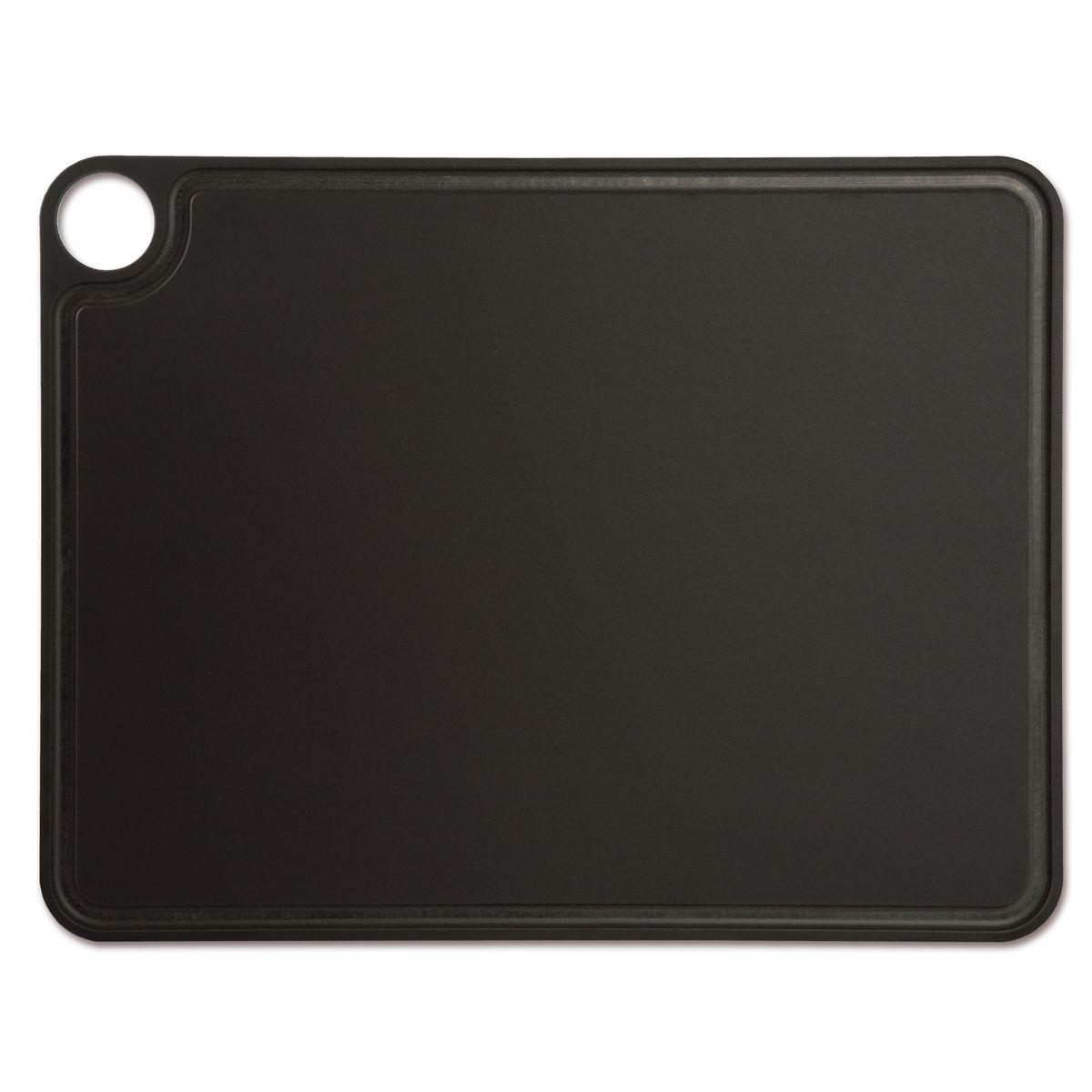 Planche à découper noire en papier compressé avec rigole  42.7 x 32.7 cm - Arcos
