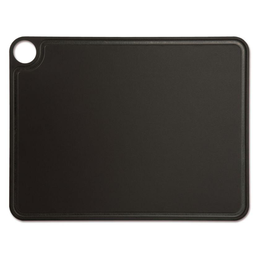 Planche à découper avec rigole noire en papier compressé 42.7 x 32.7 cm - Arcos