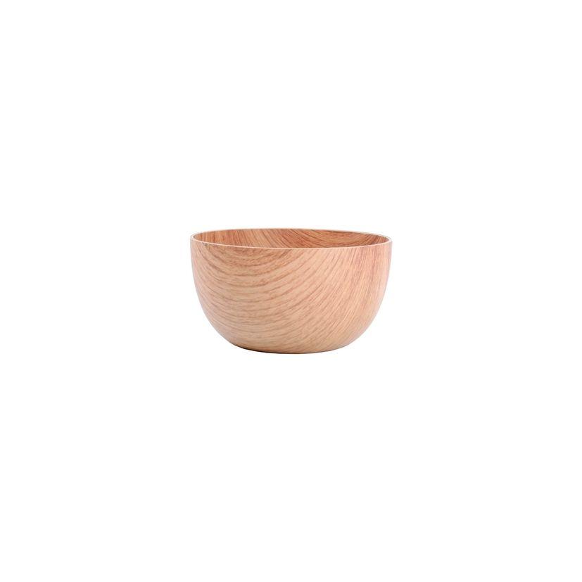 Saladier plastique façon bois  16 x h 8.5 cm -