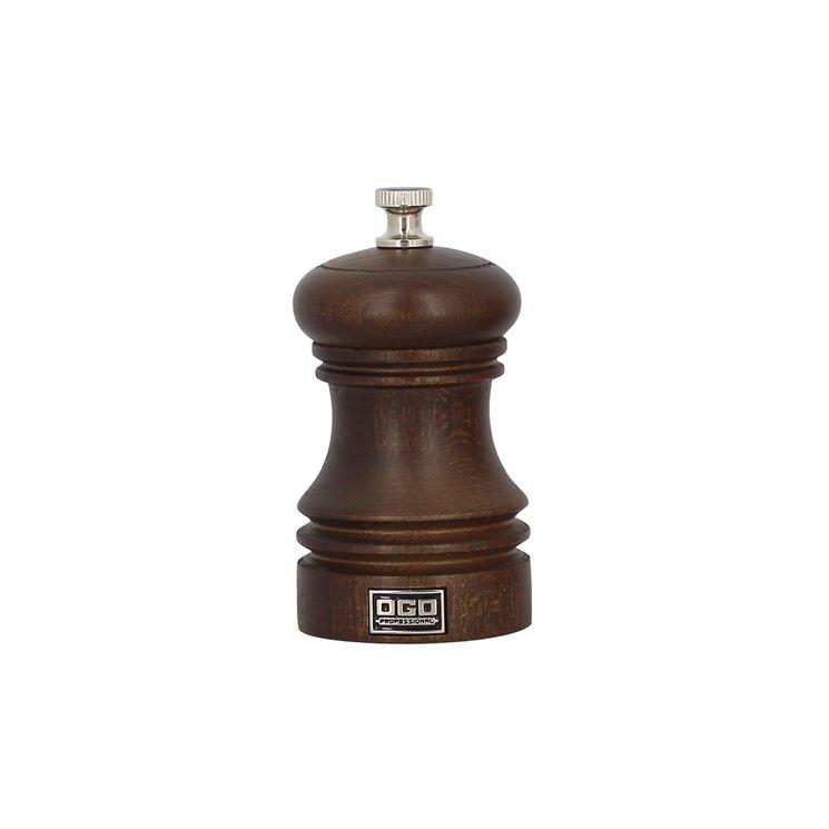 Moulin à poivre en bois chocolat 10cm - Ogo Pro