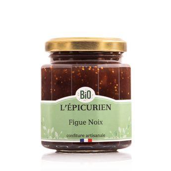 Confiture figues noix bio 210 g - L´Epicurien
