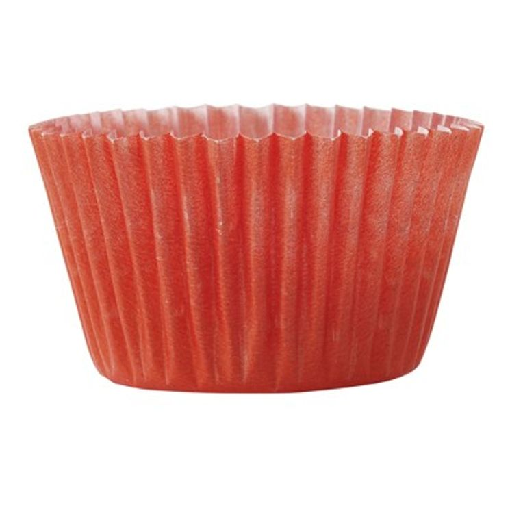 45 PETITS MOULES A CUPCAKES ROUGE 5.5X3CM - CHEVALIER DIFFUSION