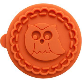 Achat en ligne Tampon biscuit bois et silicone hibou 7 cm - Birkmann