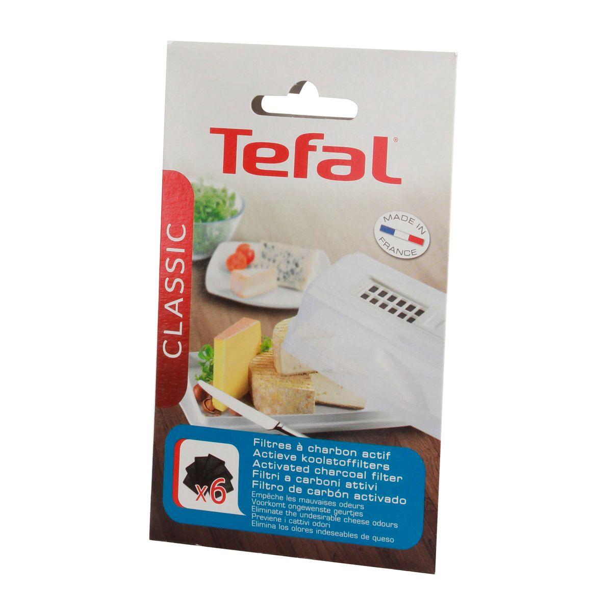 Pièce de rechange : 6 filtres de rechange pour cave à fromage petit modèle - Tefal
