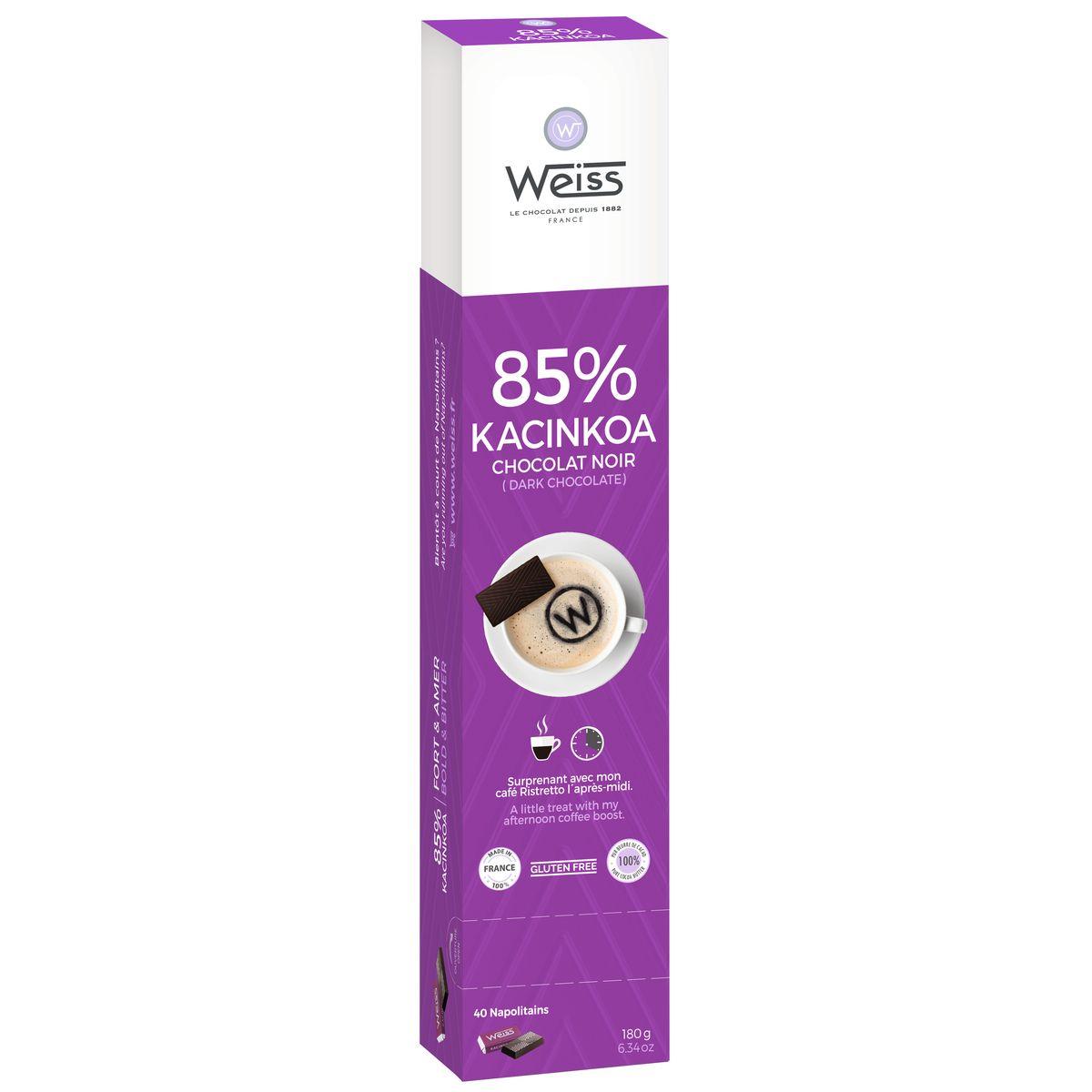 Kacinkoa réglette chocaf 180g - Weiss