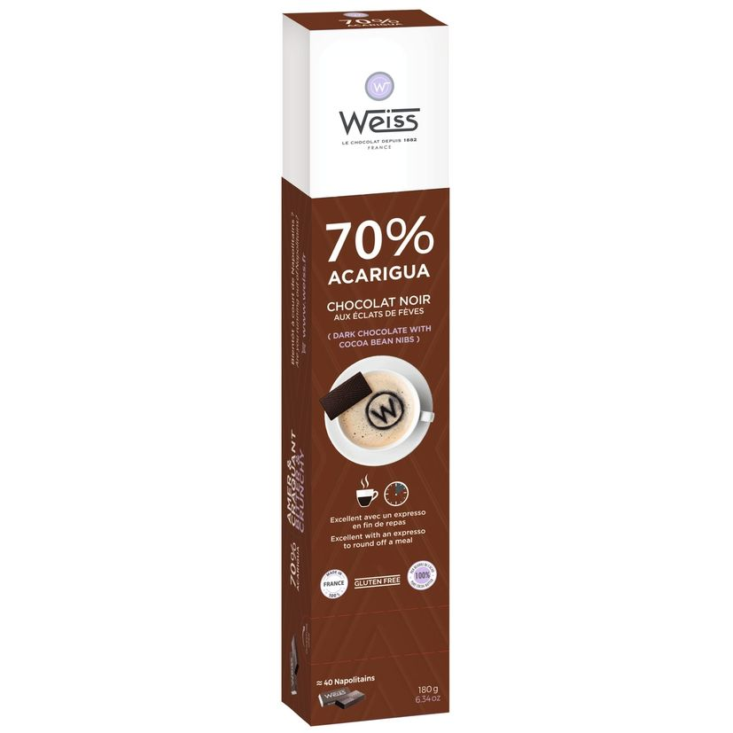 Acarigua réglette chocaf 180g - Weiss