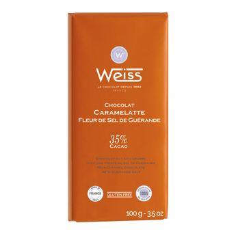 Tablette caramelatte pointe de sel 100gr - Weiss
