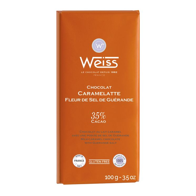 Tablette 100g caramelatte pointe de sel - Weiss