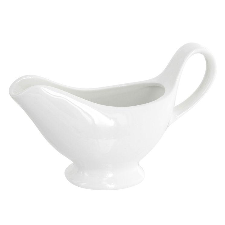 Saucière 0.25l l/s porcelaine blanche - Aerts