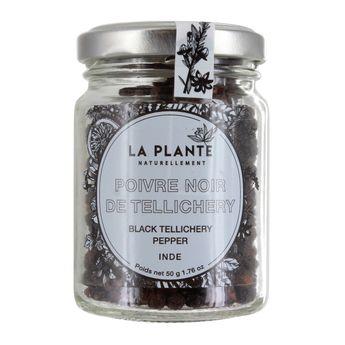 Poivre noir de Tellichery BIO 50g - La Plante
