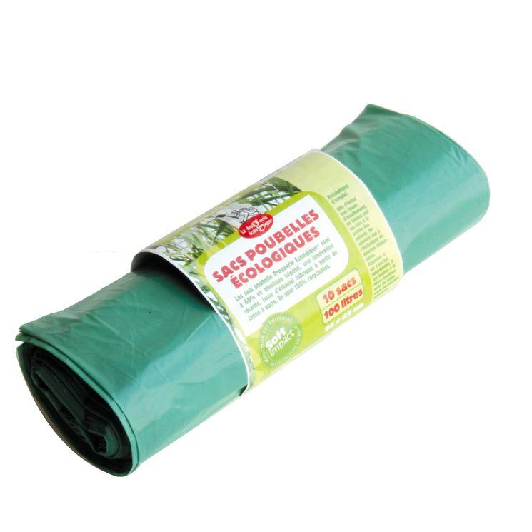 Rouleau de 10 sacs poubelles écologiques recyclables 95 x 82 cm 100L - Ah ! Table !