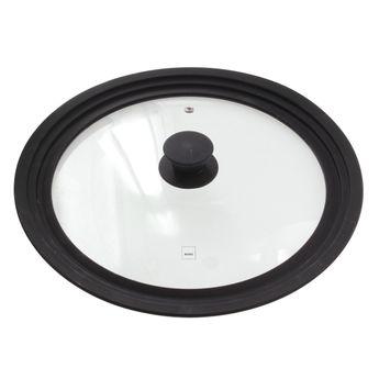 Achat en ligne Couvercle en verre et silicone multi-diamètres de 28 à 32 cm - Kela