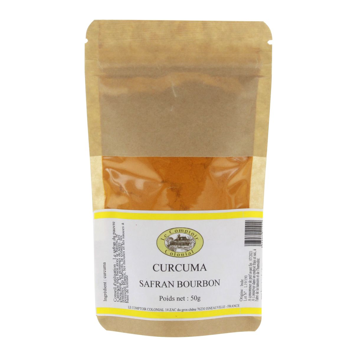 Curcuma en poudre  50gr - Le Comptoir Colonial