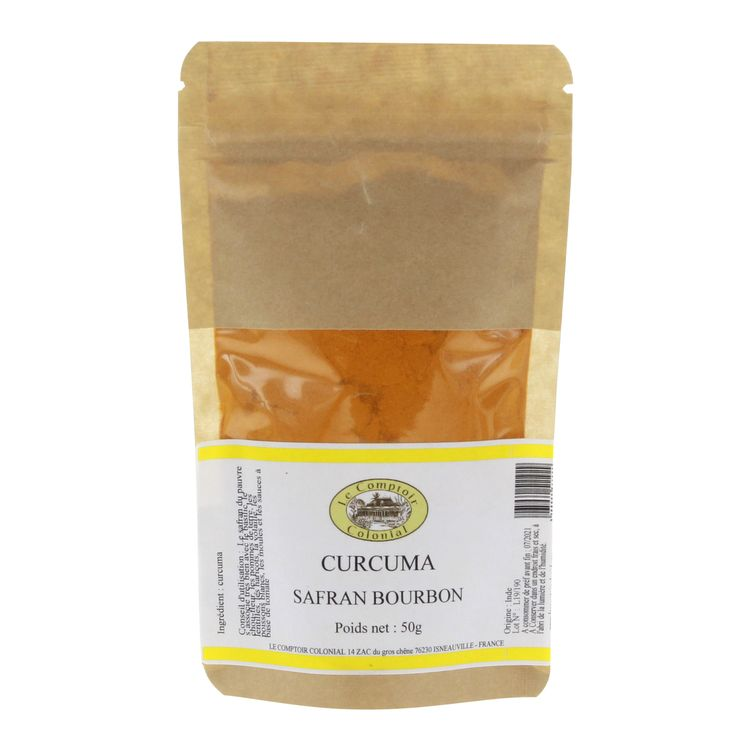 Curcuma en sachet 50gr - Comptoir colonial