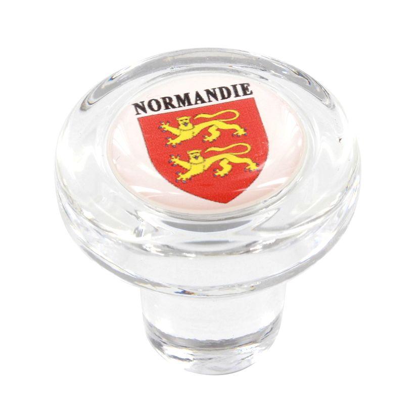 Bouchon en verre blason normandie - Cevenpack