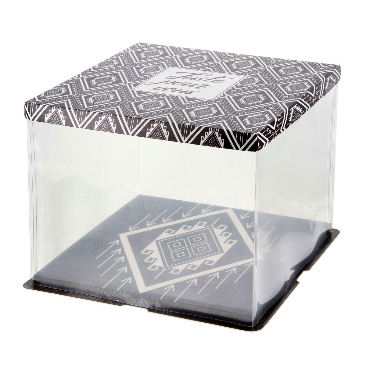 Boîte à gâteaux vitrine 36 x 36 x 28 cm - Patisdecor