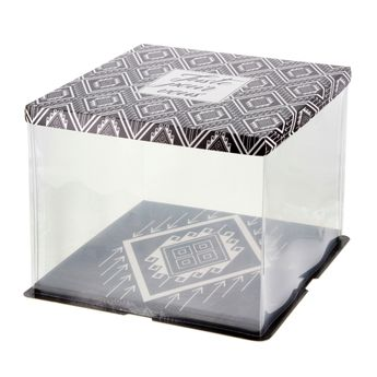 Boite de transport gatobox avec vitrine 36 x 36 x 28 cm - Patisdecor