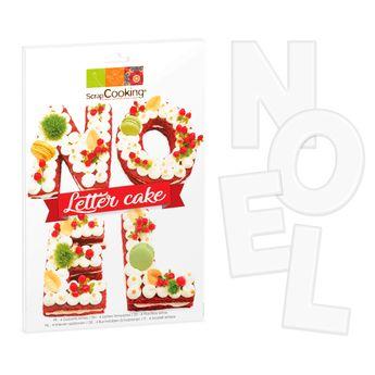 4 gabarits pour letter cake Noël - Scrapcooking