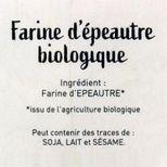 Farine d´épeautre t56 bio 1.5kg - Trésors de Chefs