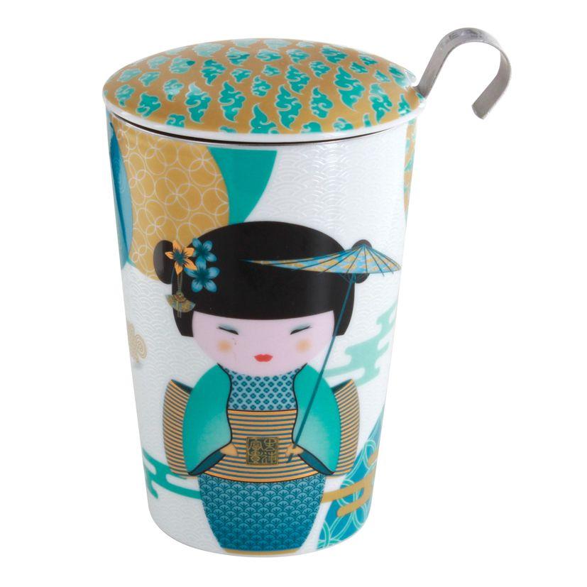 Tisanière porcelaine Little Geisha Petrol 350ml- Teaeve