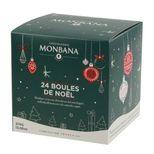 Coffret 24 boules de noel - Monbana