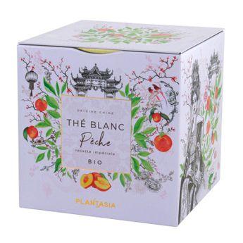 The blanc pêche Bio* cube métal 36 g - Plantasia
