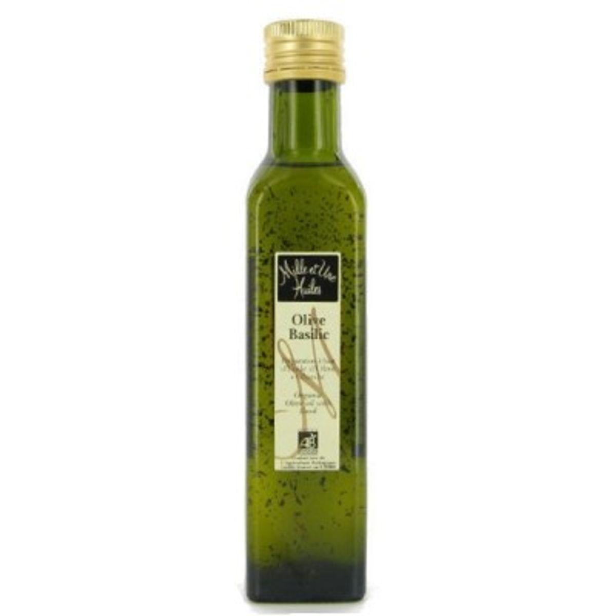 Huile olive bio au basilic - Mille et une Huiles