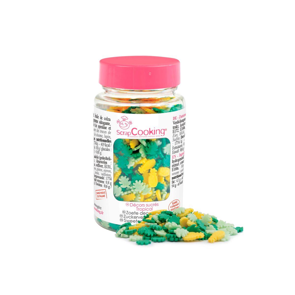 Pot de décors en sucre Tropical 55 gr - Scrapcooking