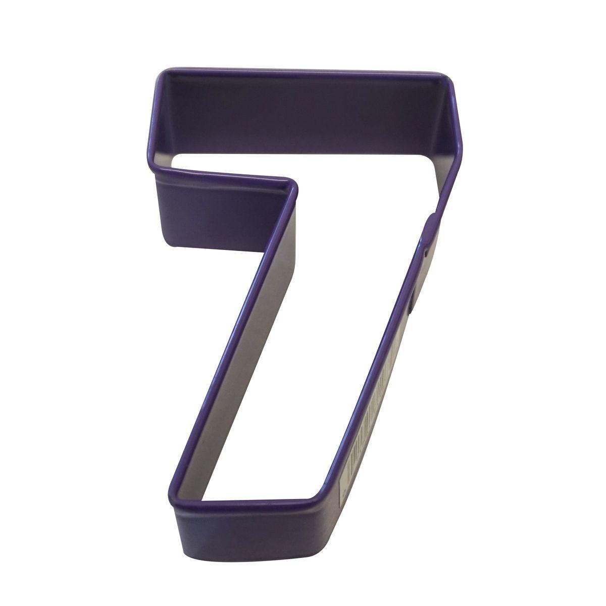 Emporte pièce violet chiffre 7 - Anniversary House