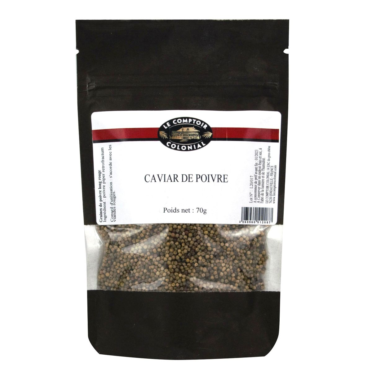 Caviar de poivre 70gr - Le Comptoir Colonial