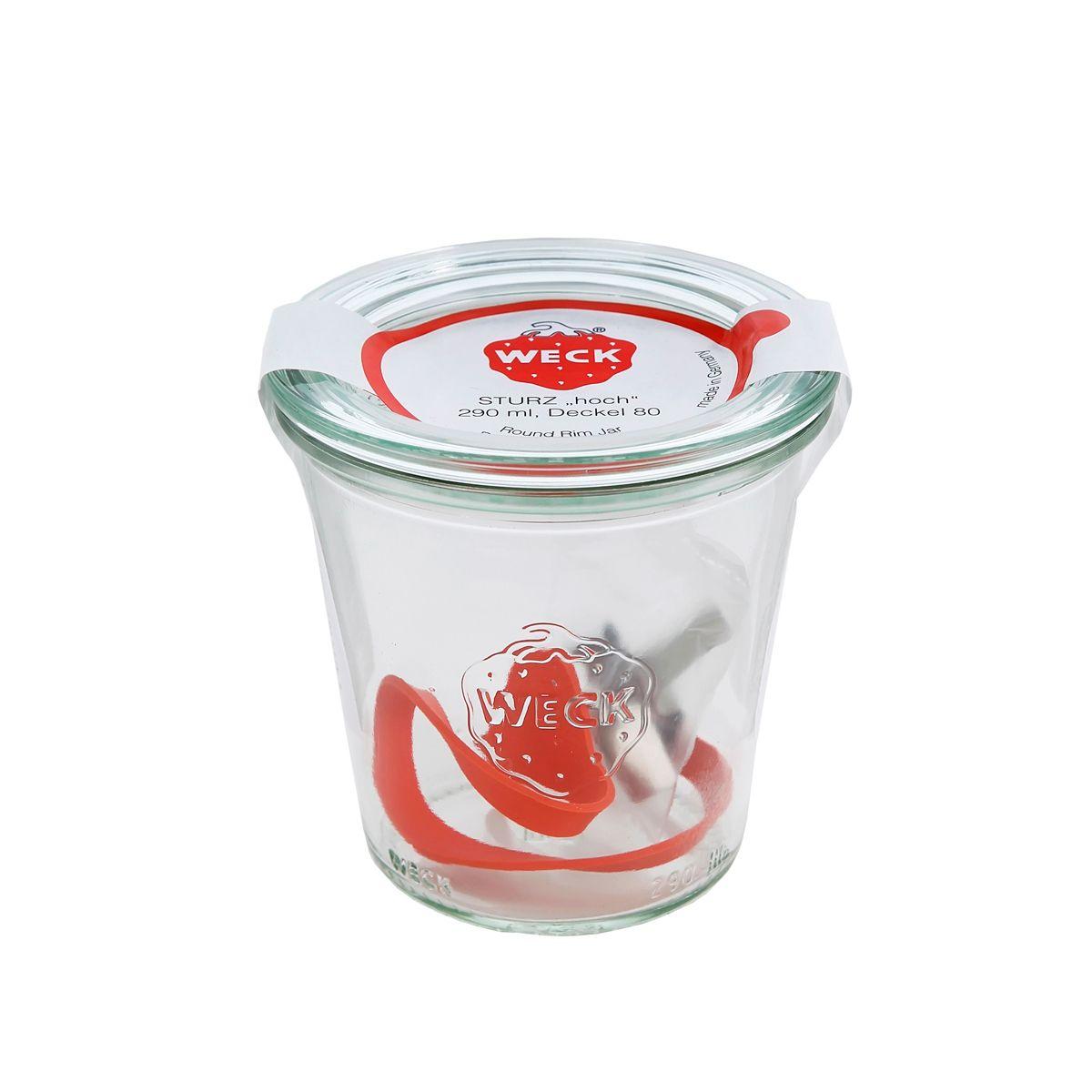 Bocal de conservation hermétique en verre avec clips et joints 290 ml diamètre 100 mm - Weck