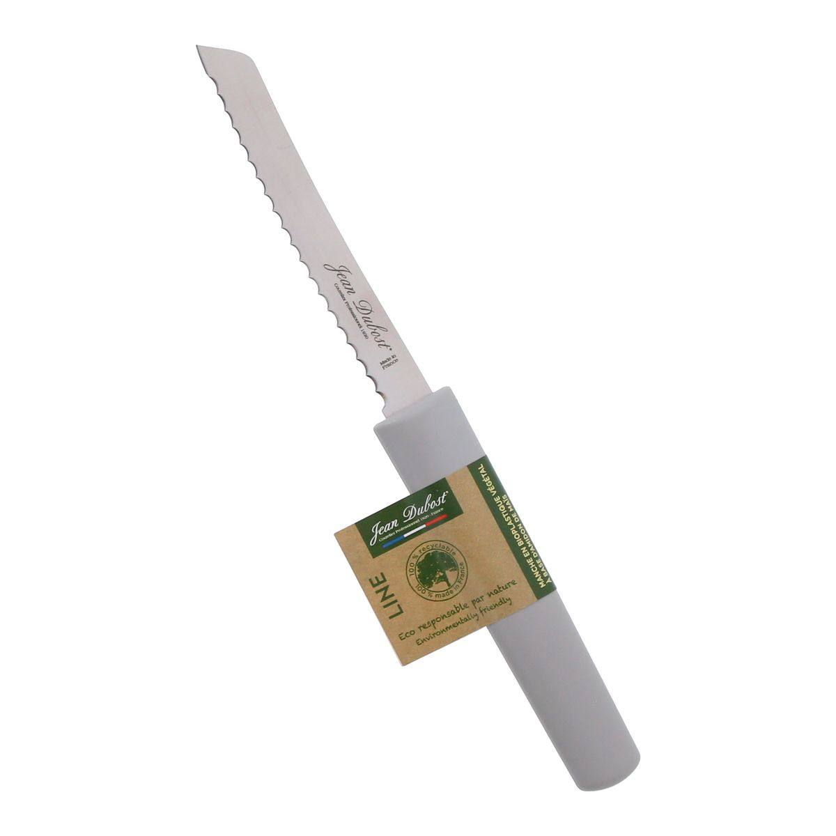Couteau cranté gris - Jean Dubost