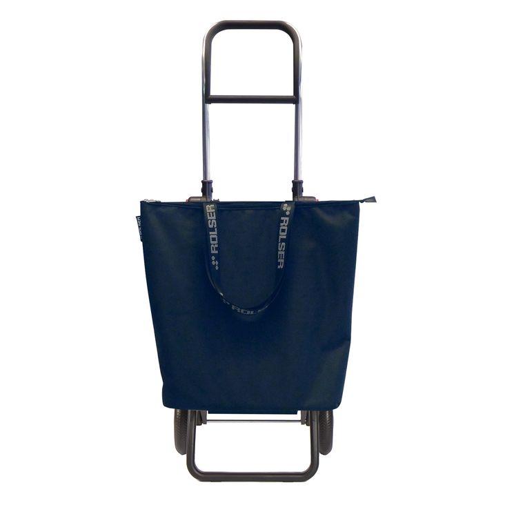 Chariot de course pliable 2 roues minibag mf bleu - Rolser