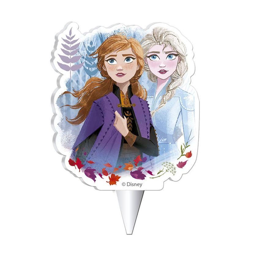 Bougie 2D Reine des neiges 2 7.5 cm - Dekora