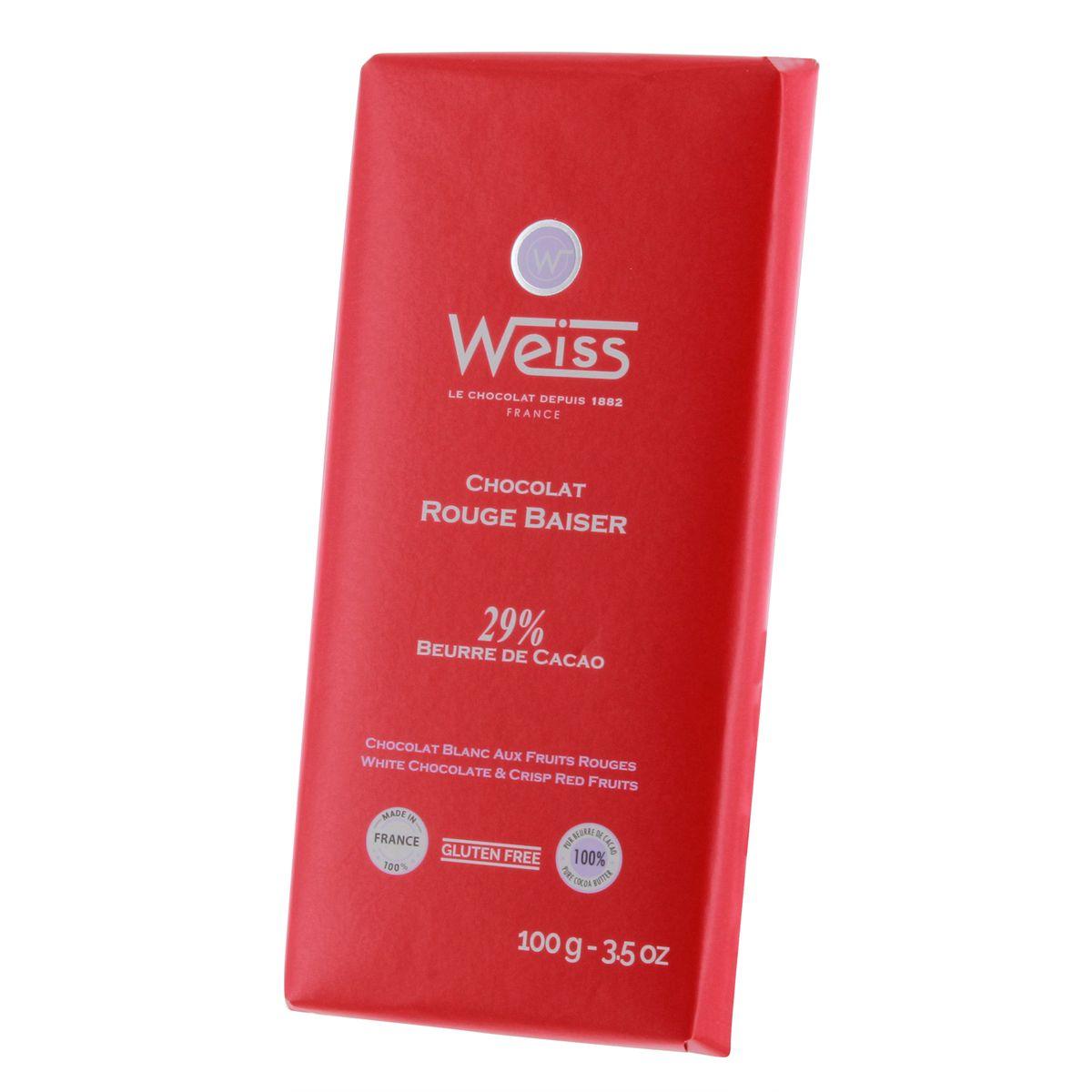 Tablette 100g Rouge baiser - Weiss