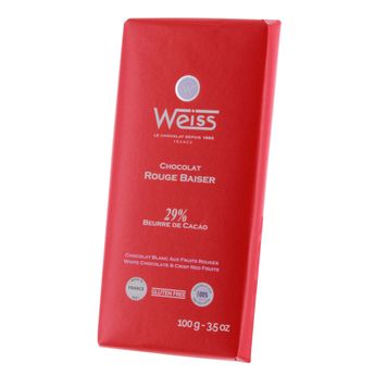 Achat en ligne Tablette Rouge baiser 100gr - Weiss