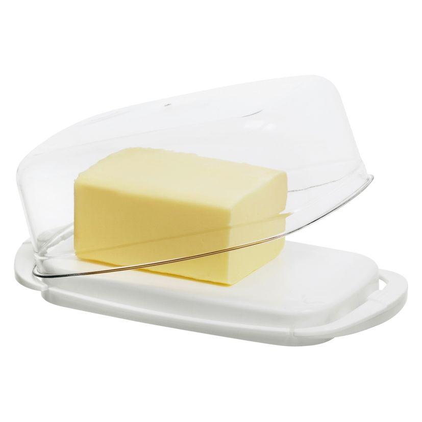 Beurrier blanc en plastique blanc 6.5 x 9.5 x 18 cm - Rotho