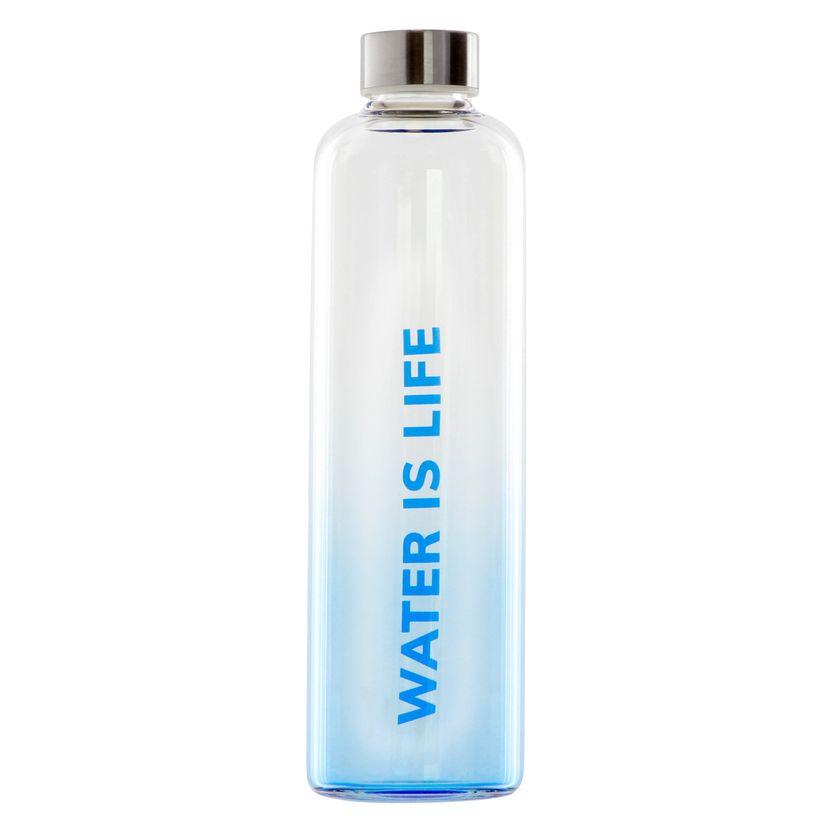 """""""Bouteille en verre """"""""Water is life"""""""" 1 l - Yoko design"""""""