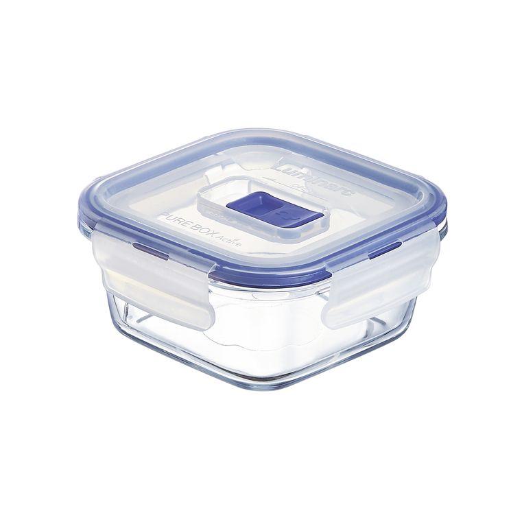 Boite hermétique Pure Box carrée en verre 38cl 6.2x12.2x12.2cm - Luminarc