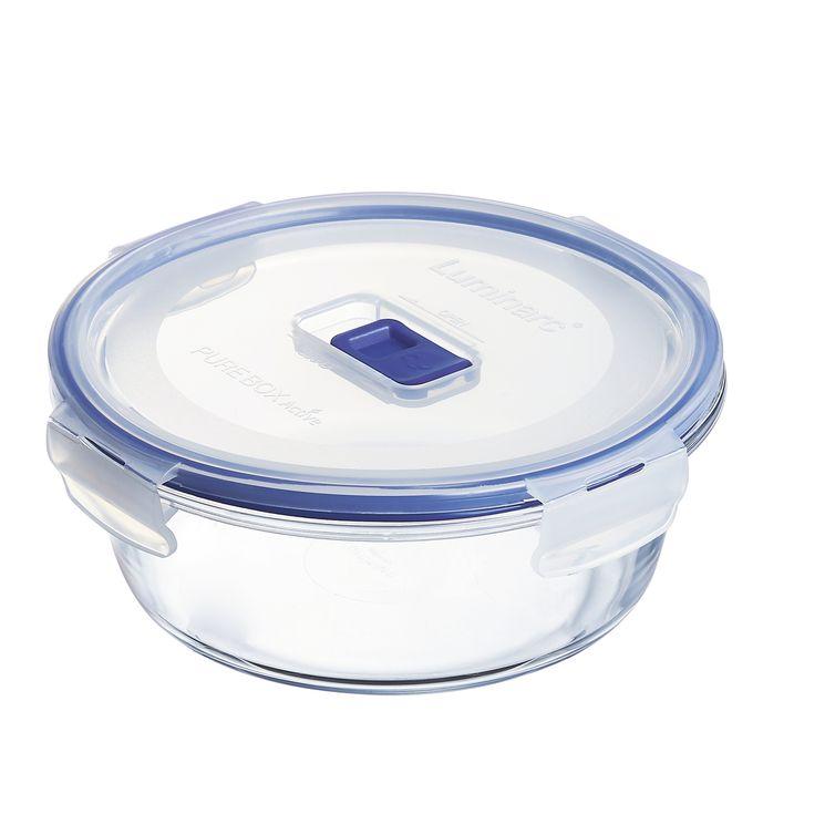 Boite hermétique Pure Box ronde en verre 92cl 7.4x17.1cm - Luminarc