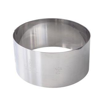 Achat en ligne Cercle à mousse et entremet en inox 8/10 parts 28 cm hauteur 4.5 cm - Alice Délice