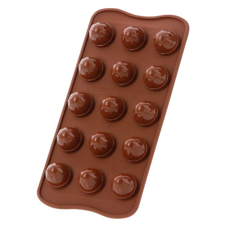 Moule à chocolats 3D en silicone choco drop - Silikomart