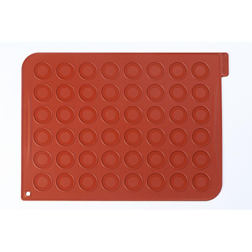 Tapis pour macaron en silicone rouge 30 x 40 cm - Silikomart