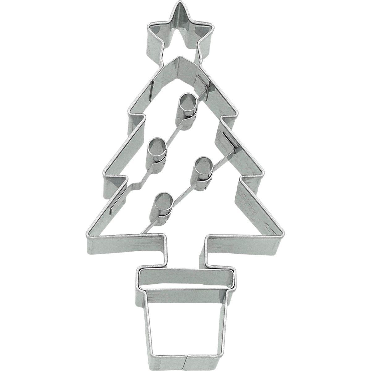 Emporte-pièce en inox sapin de Noël 8.5 cm - Birkmann