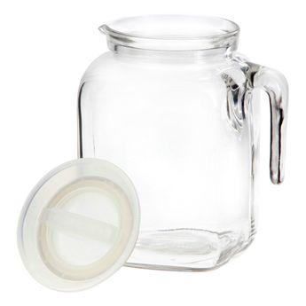 Achat en ligne Broc transparent en verre avec couvercle blanc 2l Frigoverre - Bormioli