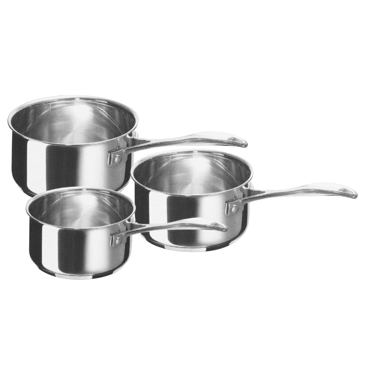 Set 3 casseroles inox Chef 16/18/20cm - Beka