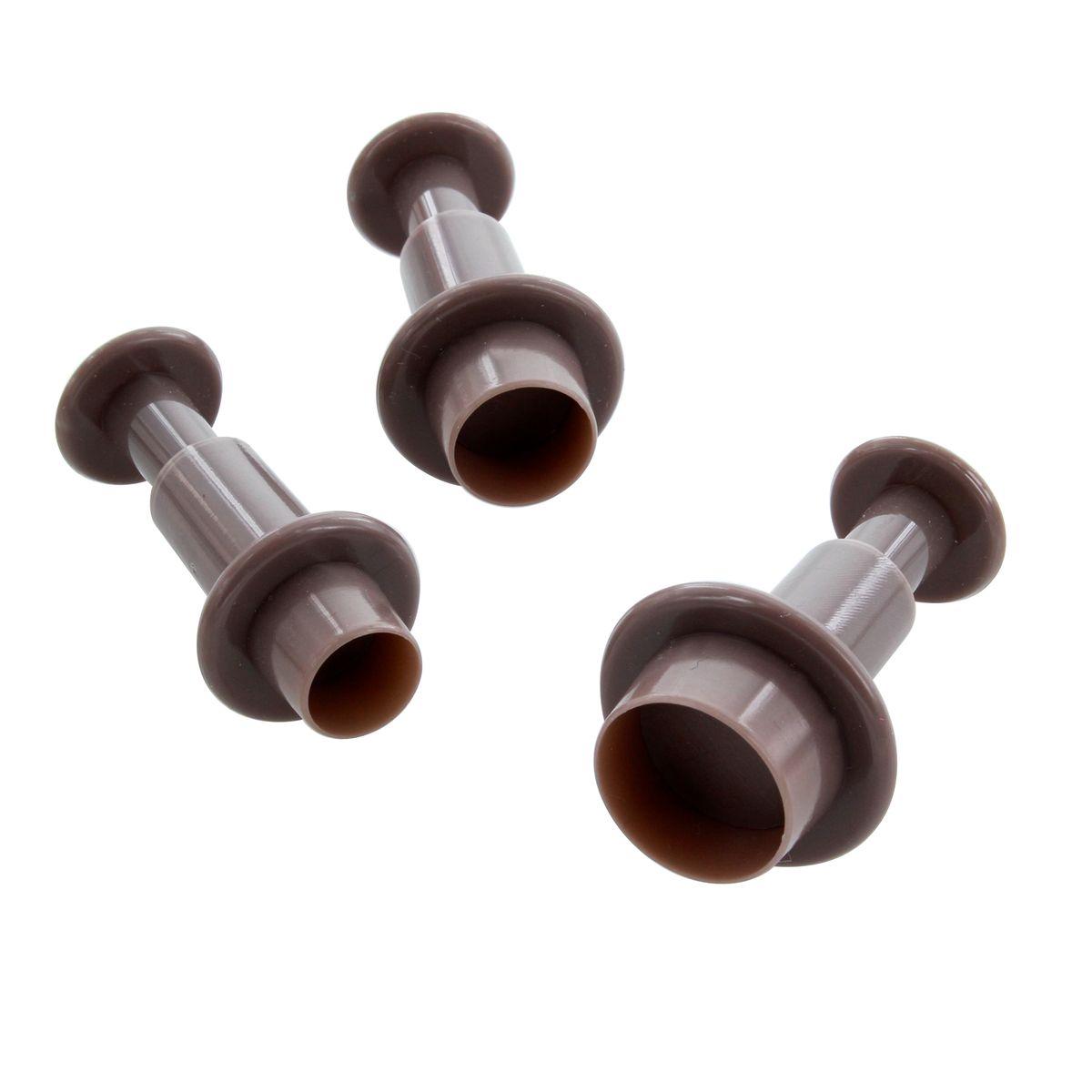 3 emporte-pièces éjecteurs ronds