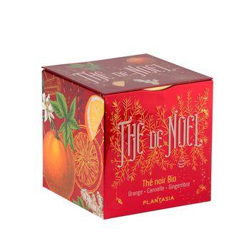 Achat en ligne Cube métal Thé de Noêl noir orange cannelle gingembre Bio 48g - Provence d´Antan