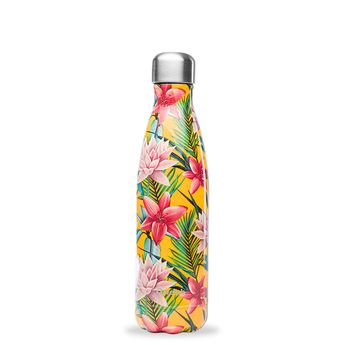 Achat en ligne Bouteille isotherme inox 500ml Tropical flower jaune - Qwetch